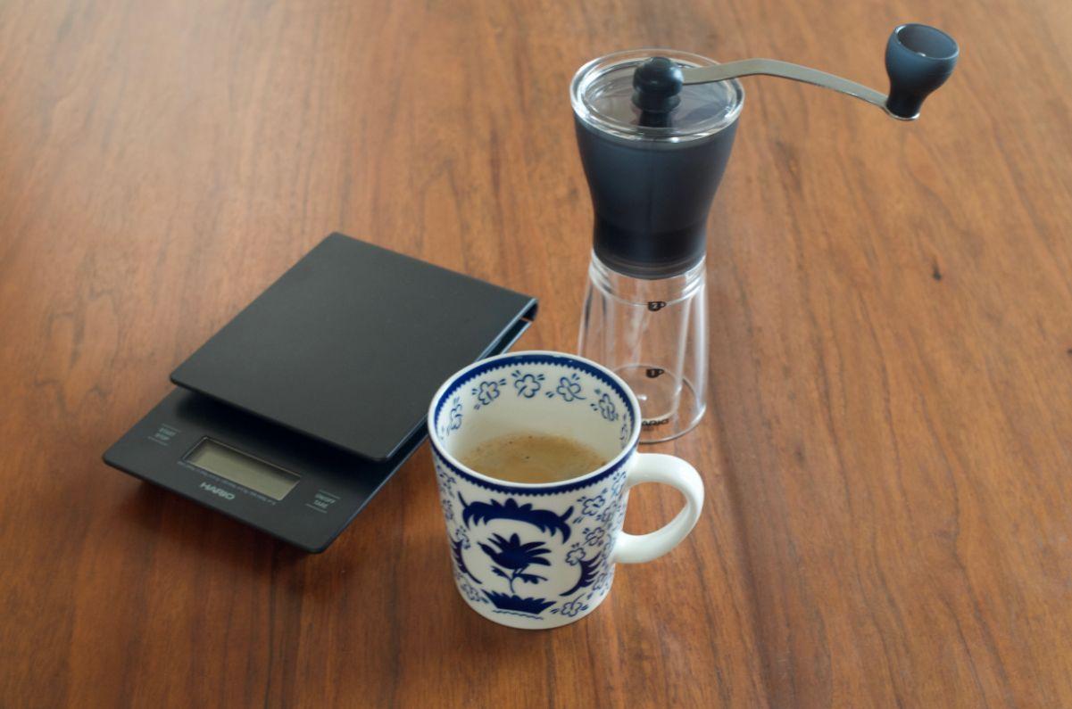 HARIOセラミックスリム淹れたコーヒー