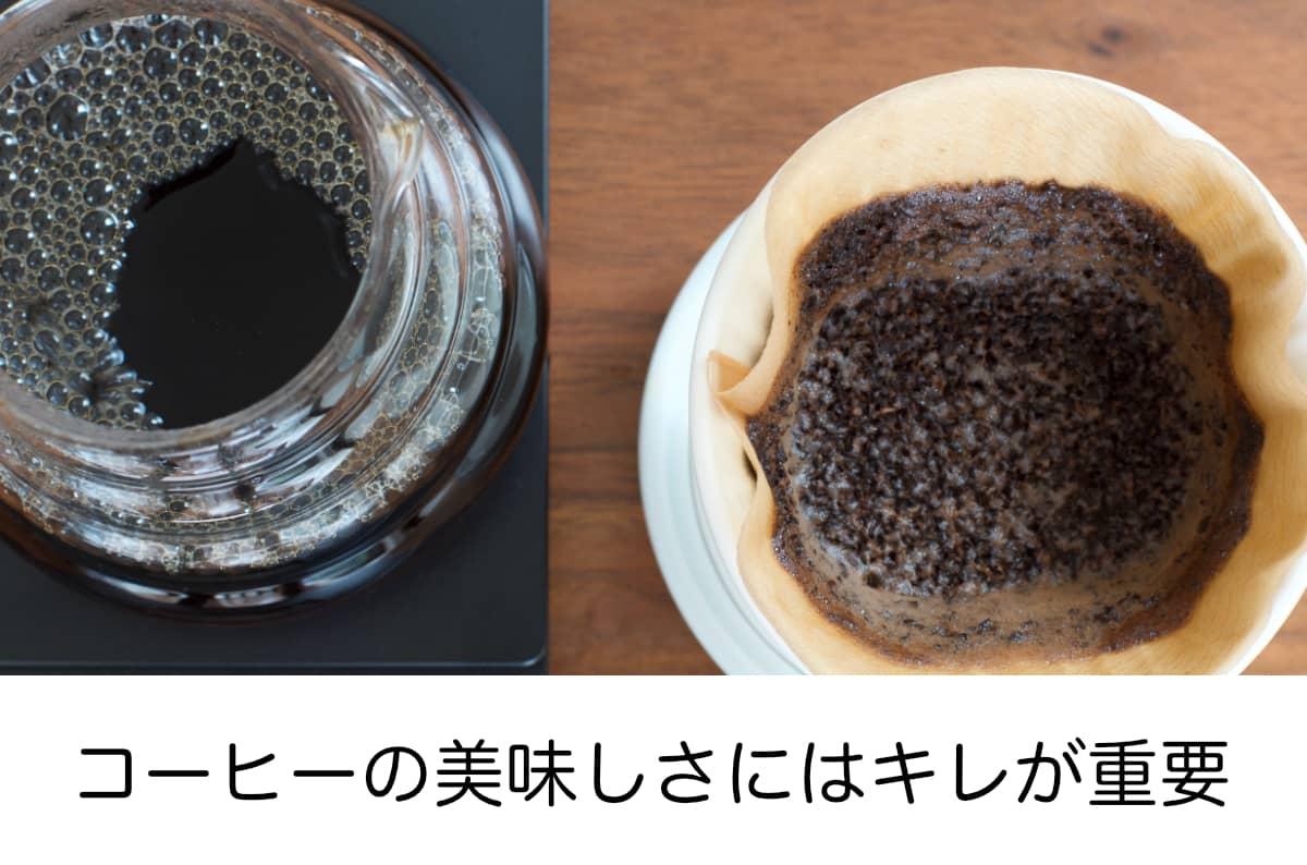 コーヒーの美味しさにはキレが重要