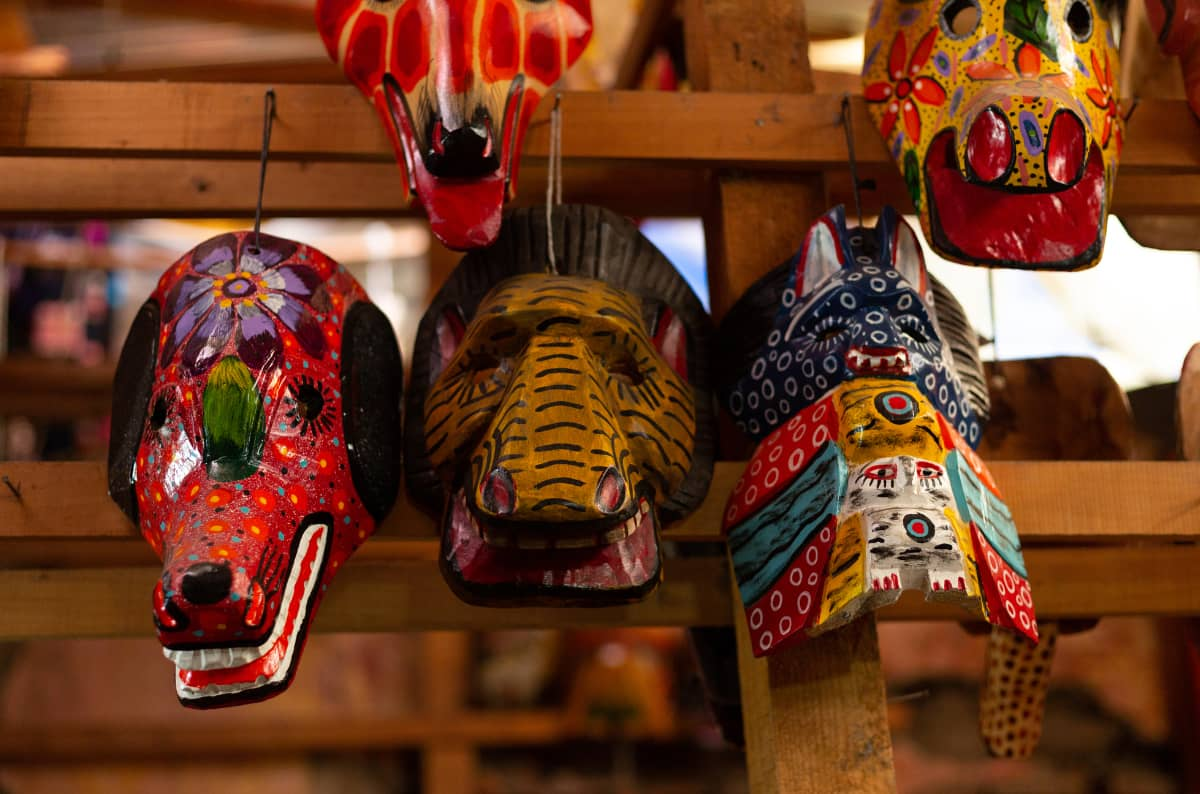 珈琲きゃろっと『グアテマラ ラ・クプラ農園』グアテマラ 伝統的な仮面
