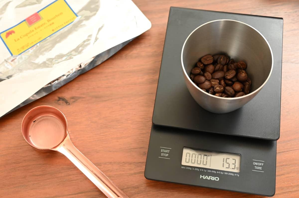 珈琲きゃろっと『グアテマラ ラ・クプラ農園』コーヒー豆 コーヒースケール