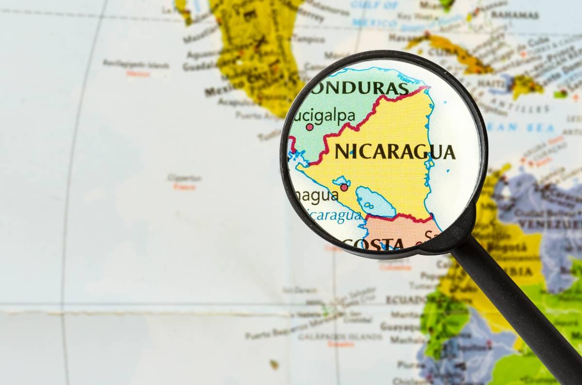 土居珈琲『ニカラグア サンタ・マリア・デ・ローデス農園』ニカラグア地図