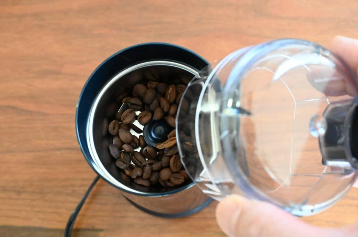 電動コーヒーミル メリタ バリエ・シンプル 使ってみた フタを閉じる