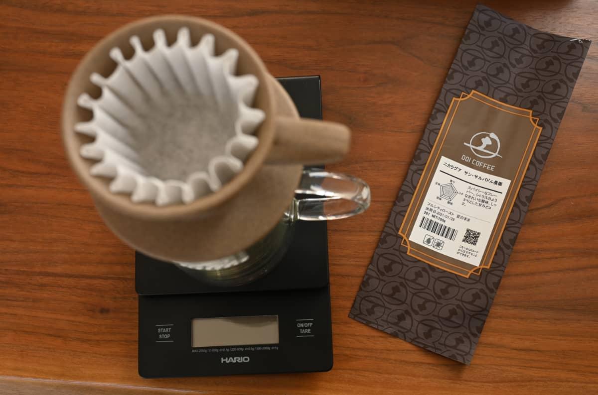 土居珈琲 ニカラグア サン・サルバドル農園 コーヒー豆 フルシティロースト カリタ ウェーブドリッパー 155 ジャグ500