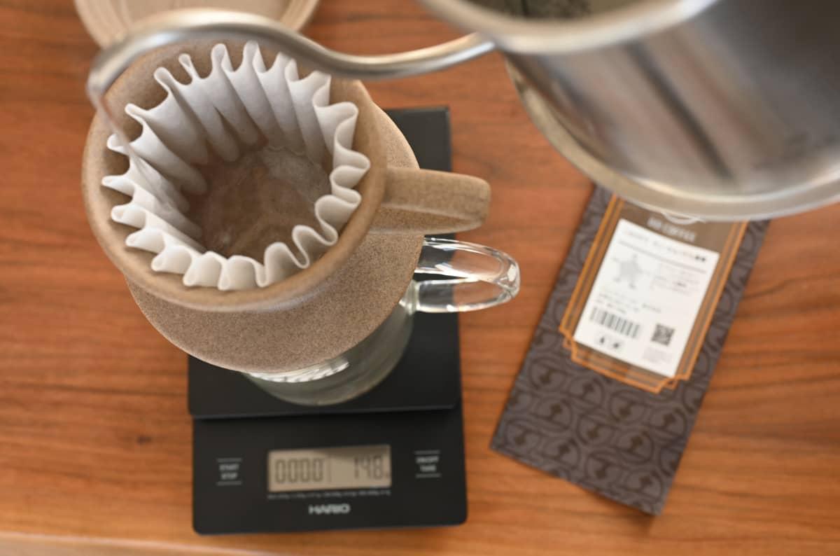 土居珈琲 ニカラグア サン・サルバドル農園 コーヒー豆 フルシティロースト カリタ ウェーブドリッパー 155 ジャグ500 リンス