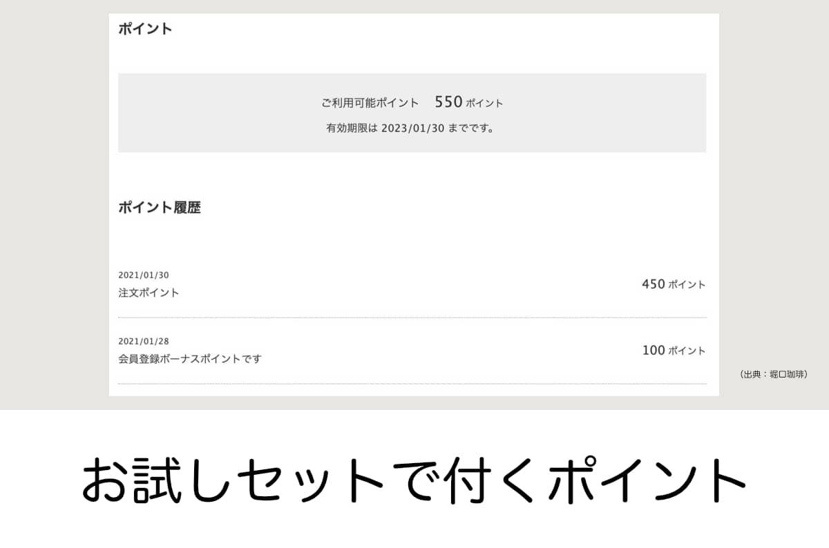 堀口珈琲ブレンド 6種お試しセット ネットショップ限定 会員登録 ポイント