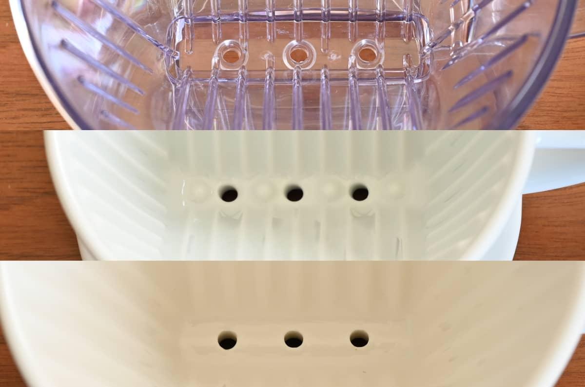 カリタ ドリッパー 波佐見焼 HA101 陶磁器 ロト 陶器 違い 底面の突起