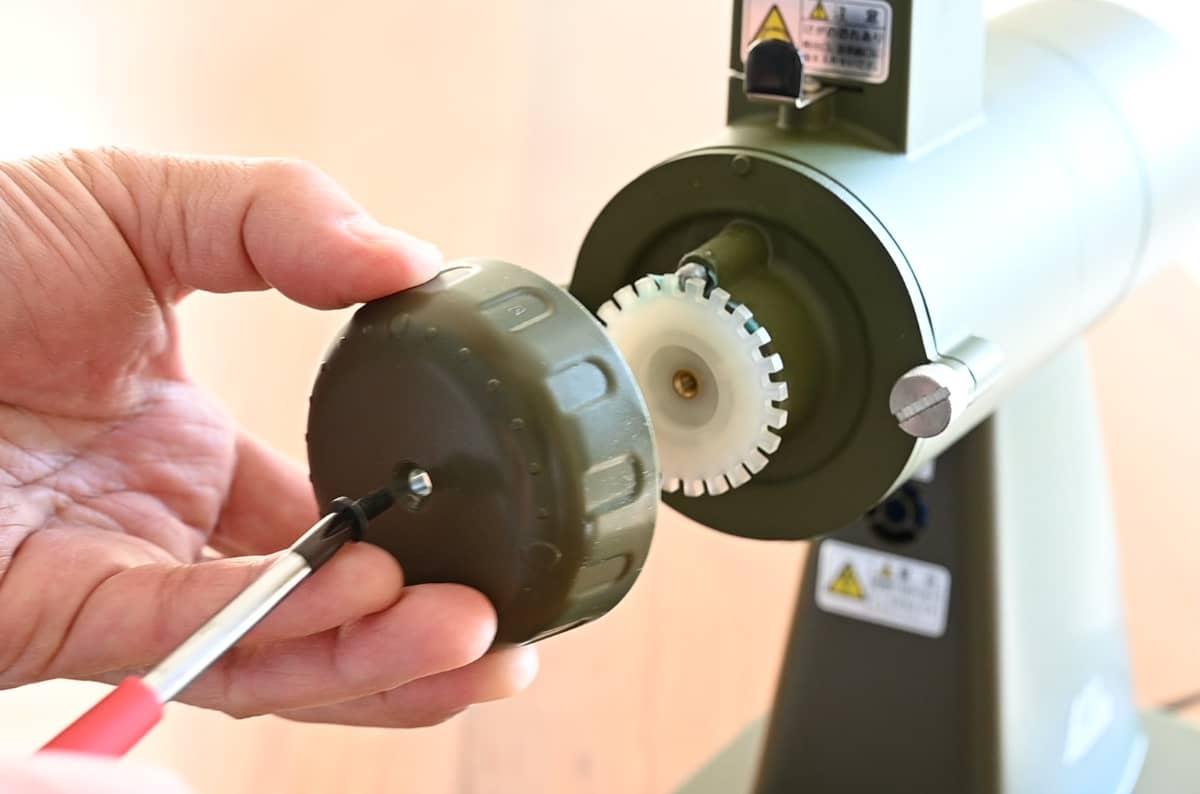 カリタ コーヒーミル ネクストG 掃除 手入れ ゼロ調整 ネジ プラスドライバー カバー