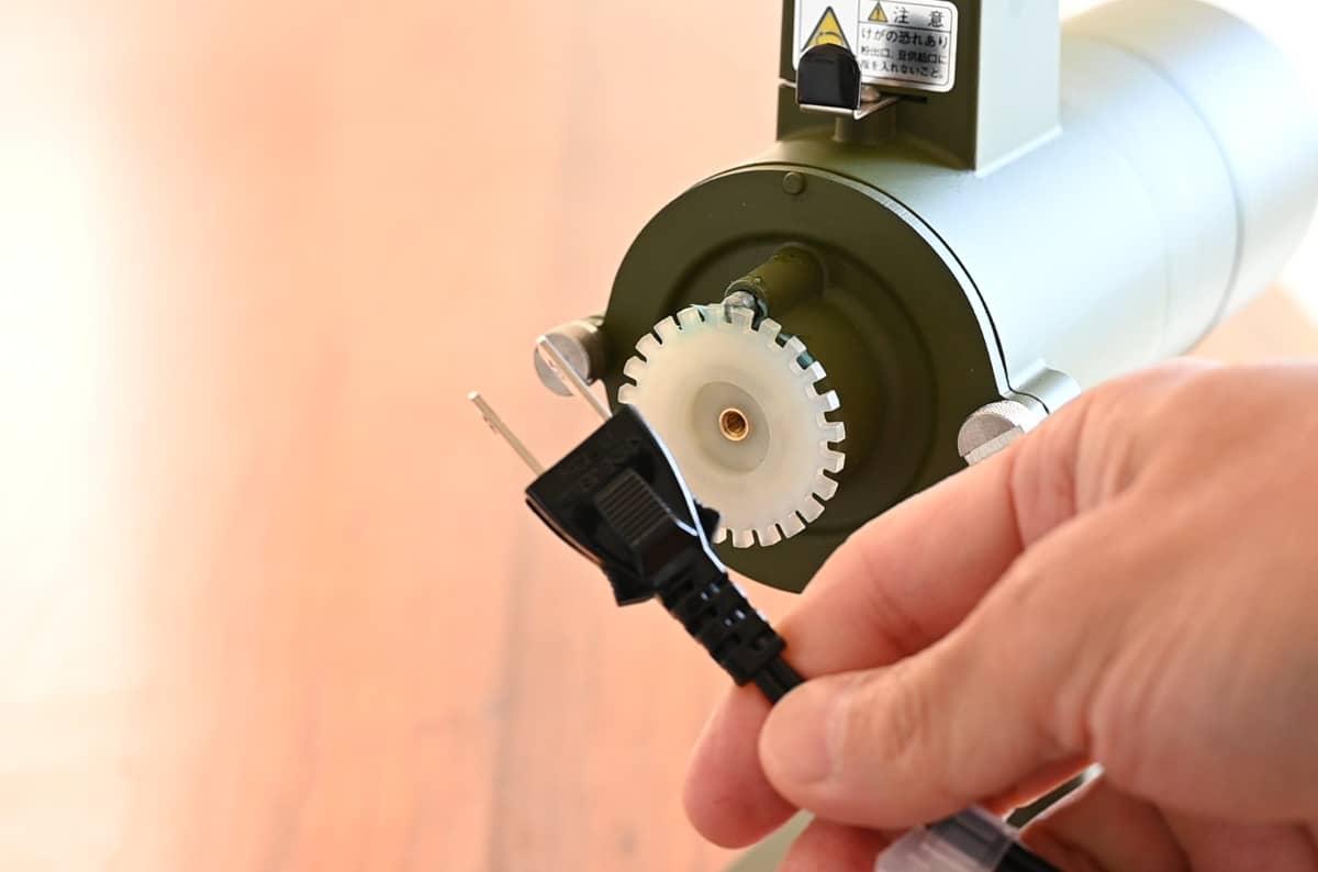 カリタ コーヒーミル ネクストG 掃除 手入れ ゼロ調整 ノッチプレート 電源プラグ コンセント