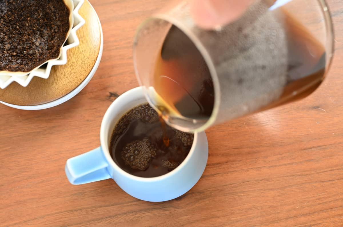 珈琲きゃろっと エチオピア グジ G1 チルフィート 中煎り ハンドドリップ ORIGAMI アロママグ マットブルー KINTO スローコーヒースタイル コーヒーサーバー