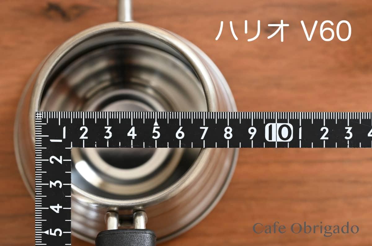 人気ドリップポット 徹底比較 ハリオ V60 珈琲考具 タカヒロ 雫 おすすめ HARIO V60 ドリップケトル ・ヴォーノ 開口部