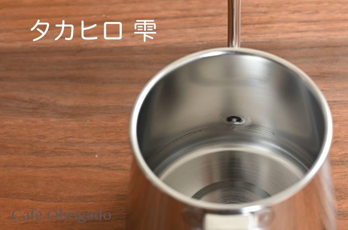 人気ドリップポット 徹底比較 ハリオ V60 珈琲考具 タカヒロ 雫 おすすめ タカヒロ 雫 底面 溶接 継ぎ目