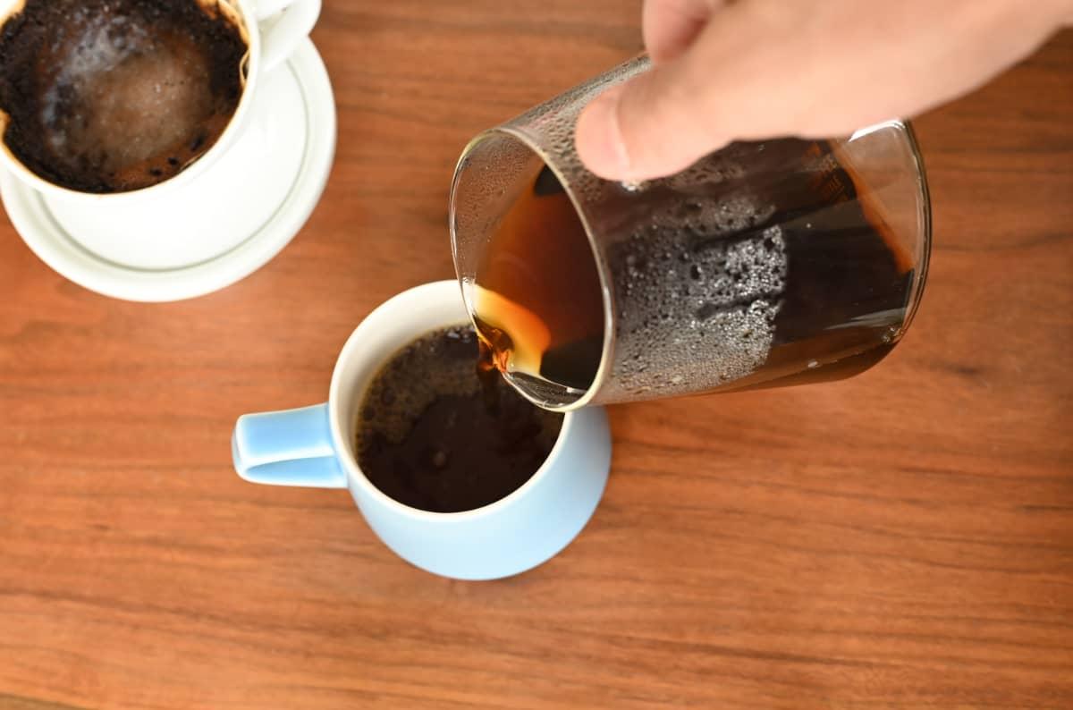 土居珈琲 エルサルバドル べジャ・ビスタ農園 コーヒー豆 フルシティロースト ハンドドリップ カリタ HA101 ドリッパー 中挽き レシピ ORIGAMI アロママグ マットブルー